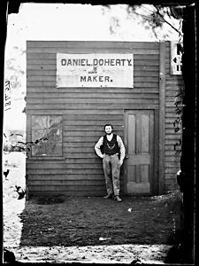 Book maker at Daniel Doherty's Home Rule store.