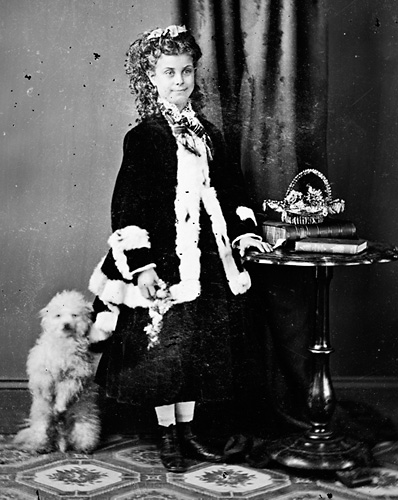 Adelaide Montgomery and toy dog