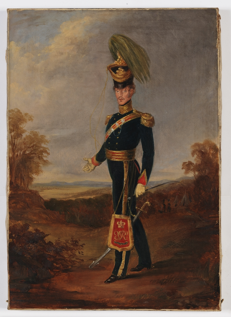 Colonel James Nunn, Australian Mounted Infantry, [1837-1846] / attributed to Joseph Fowles, ca 1840