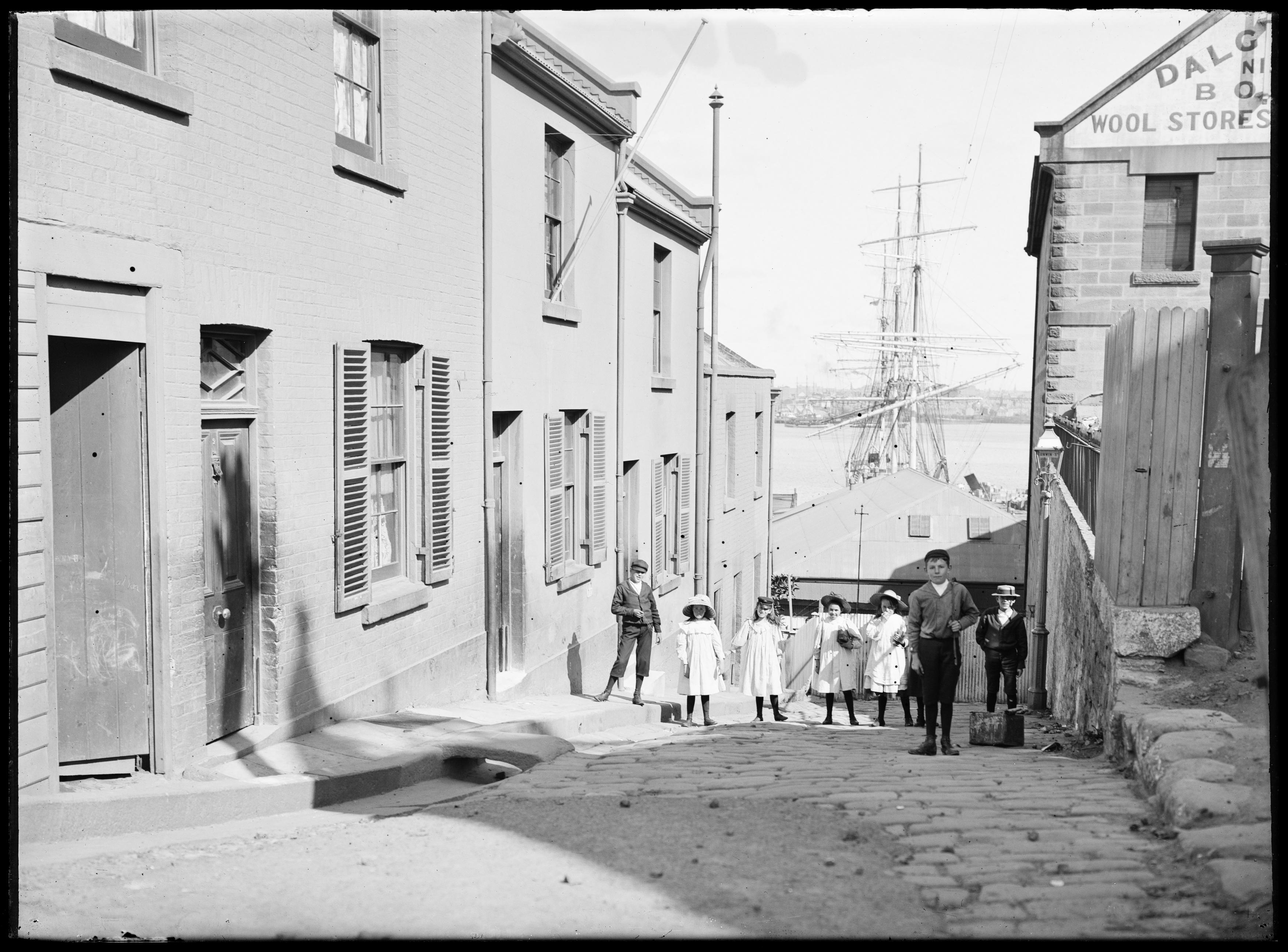 Box 01: Glass negatives of The Rocks, Sydney, ca. 1890-1910