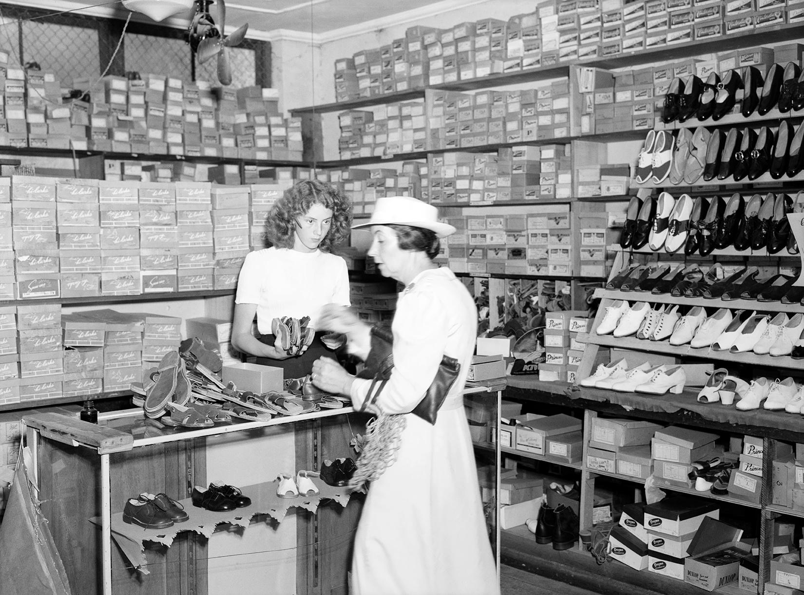 Shoe Shop, Penrith by Max Dupain, 1948