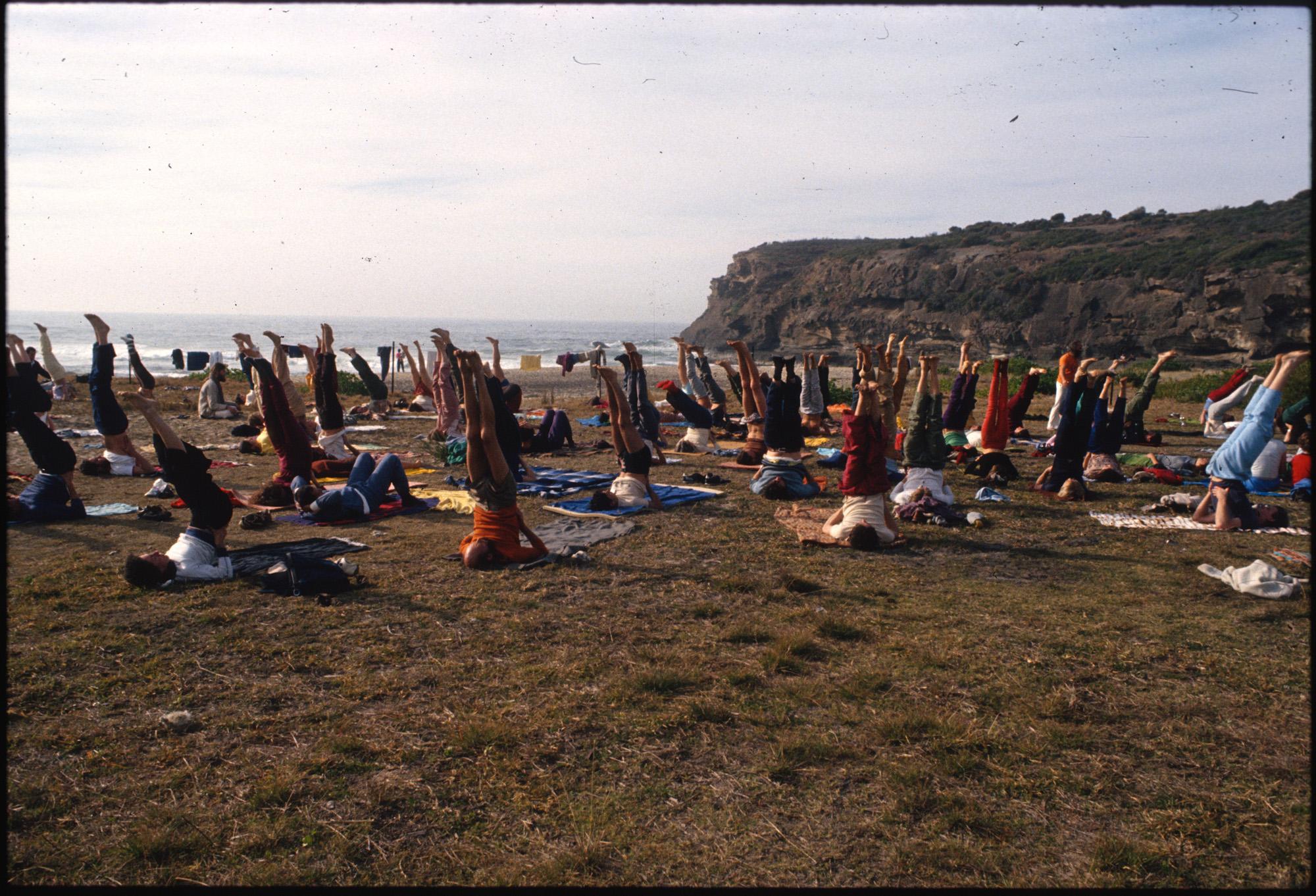 Yoga class at Ballina, Roger Marchant, c. 1975-1985