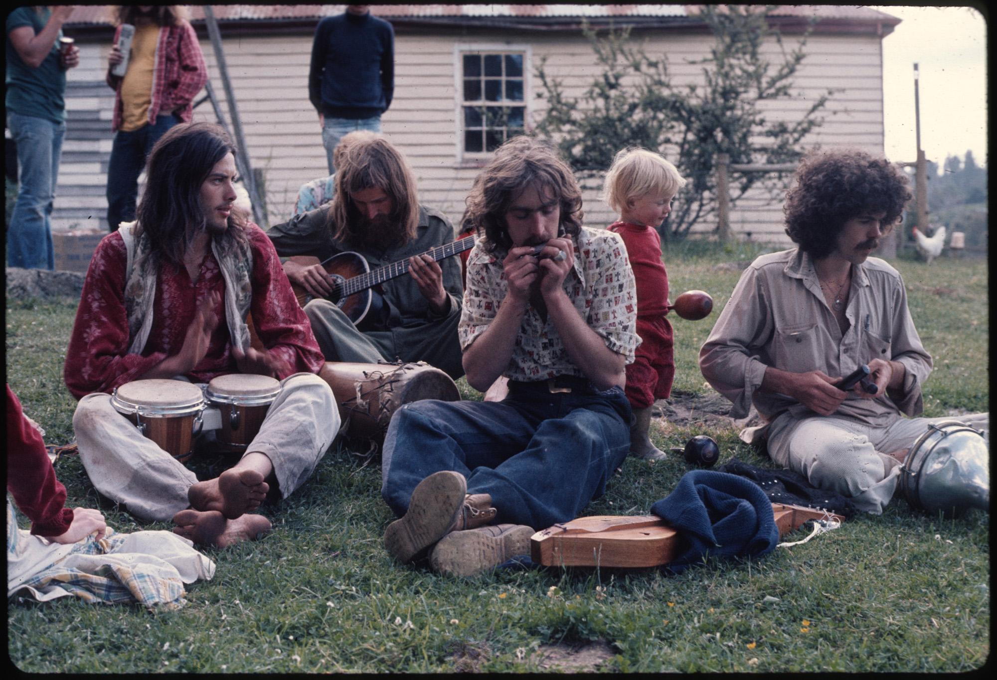 Gathering of musicians in Nimbin