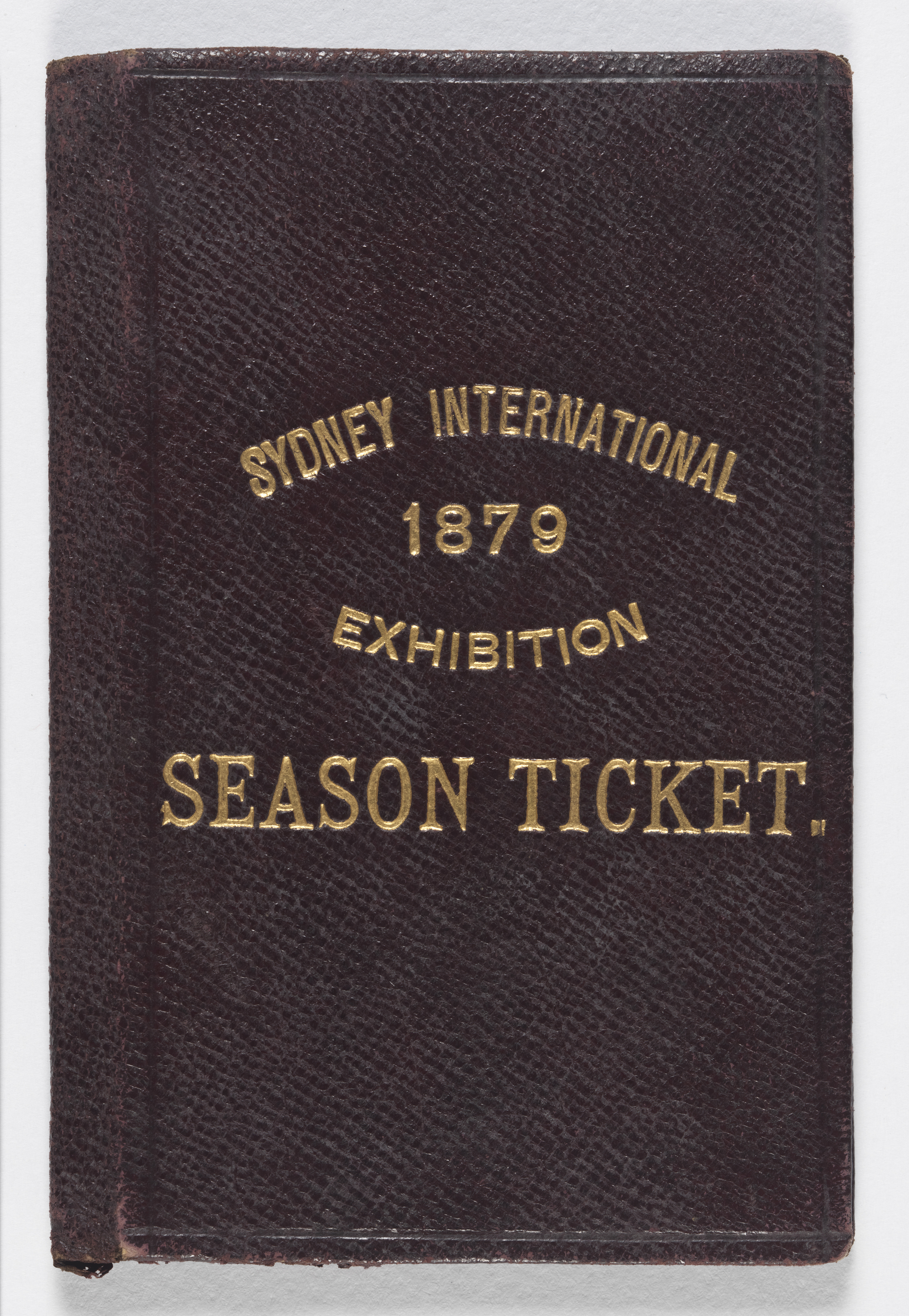 Wallet for season ticket issued to Eveline Mary Whiting for the International Exhibition