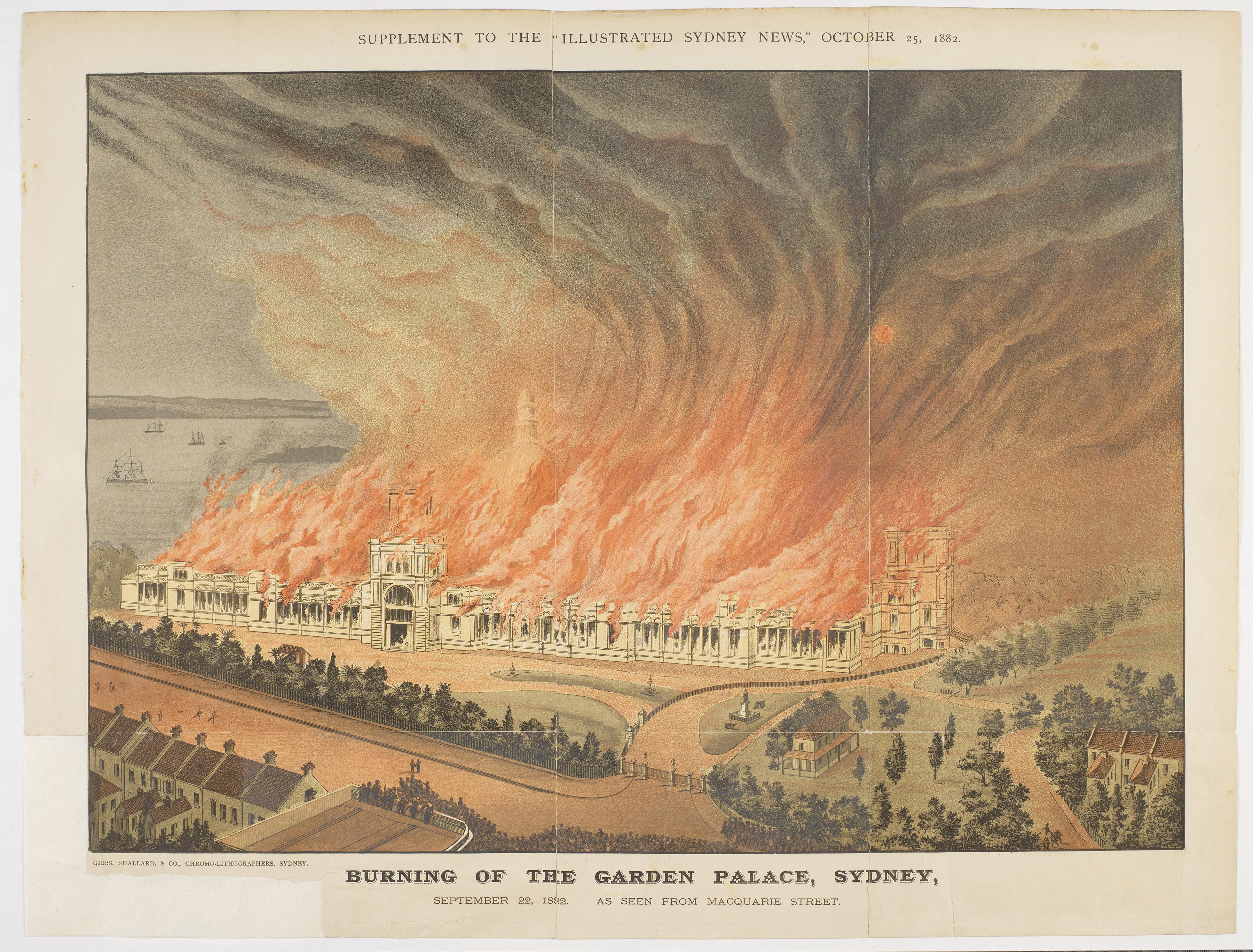 Garden Palace burning