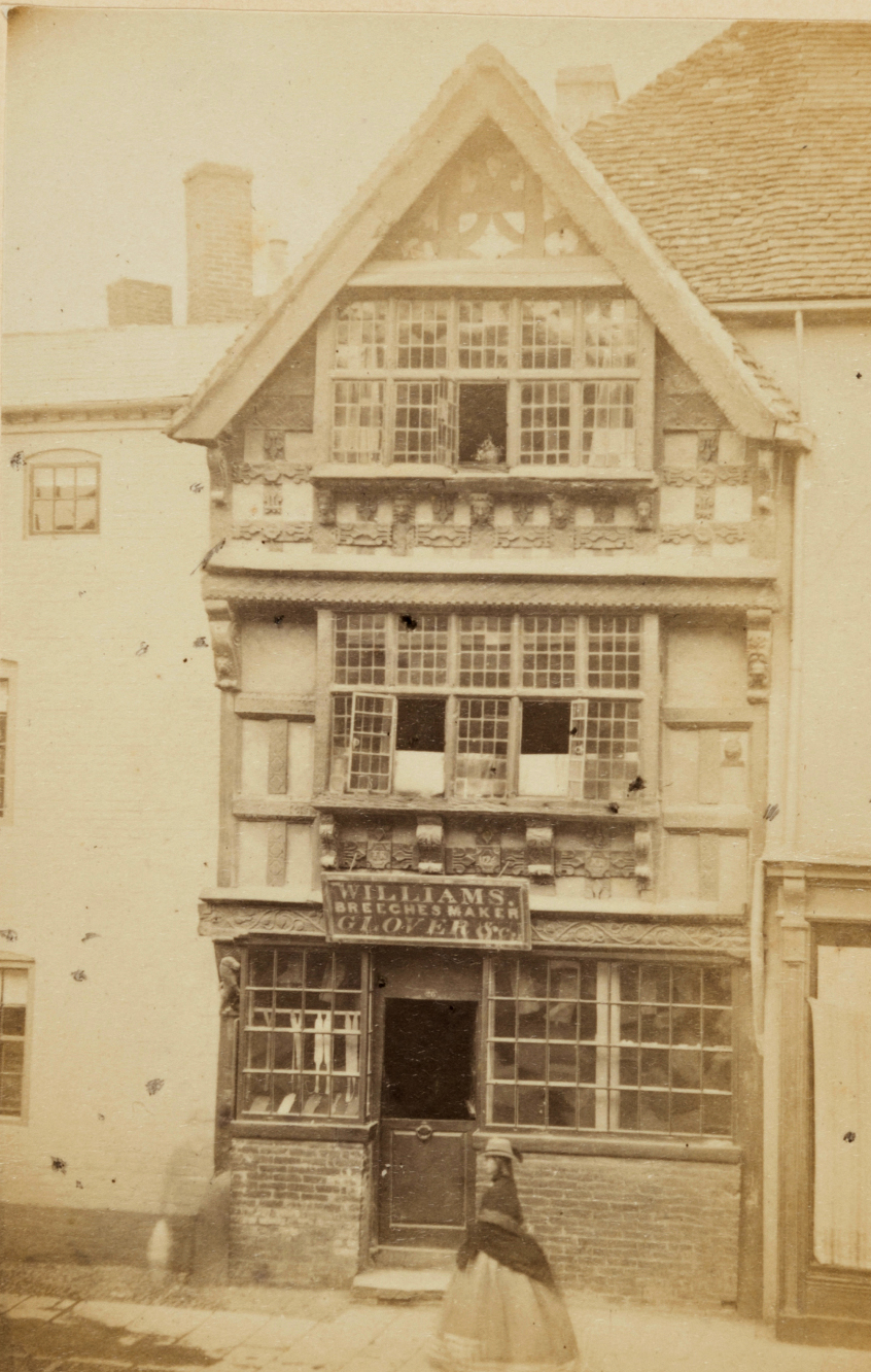House,(illustrative of the kind found in Shakespeare's time, Stratford On Avon, Ernest Edwards, 1863, from albumen print