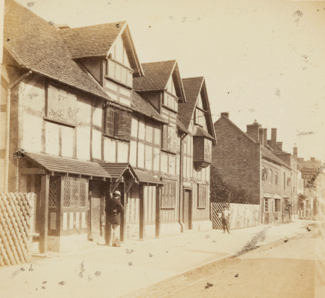 Shakespeare's birthplace, Henley Street, Stratford On Avon, Ernest Edwards, 1863, from albumen print