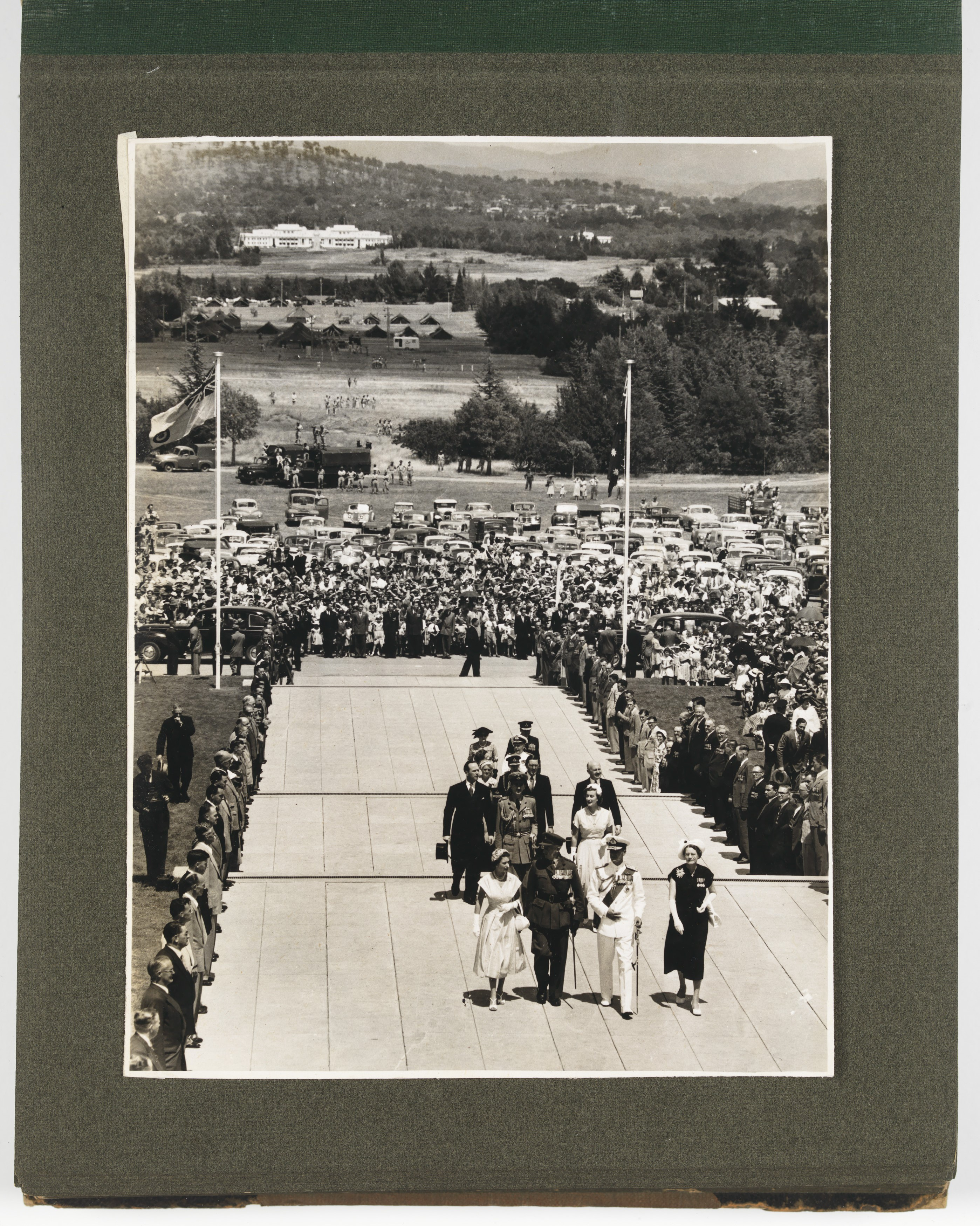 Photo of Her Majesty Queen Elizabeth acknowledges loyal greetings from Northern Territory aborigines