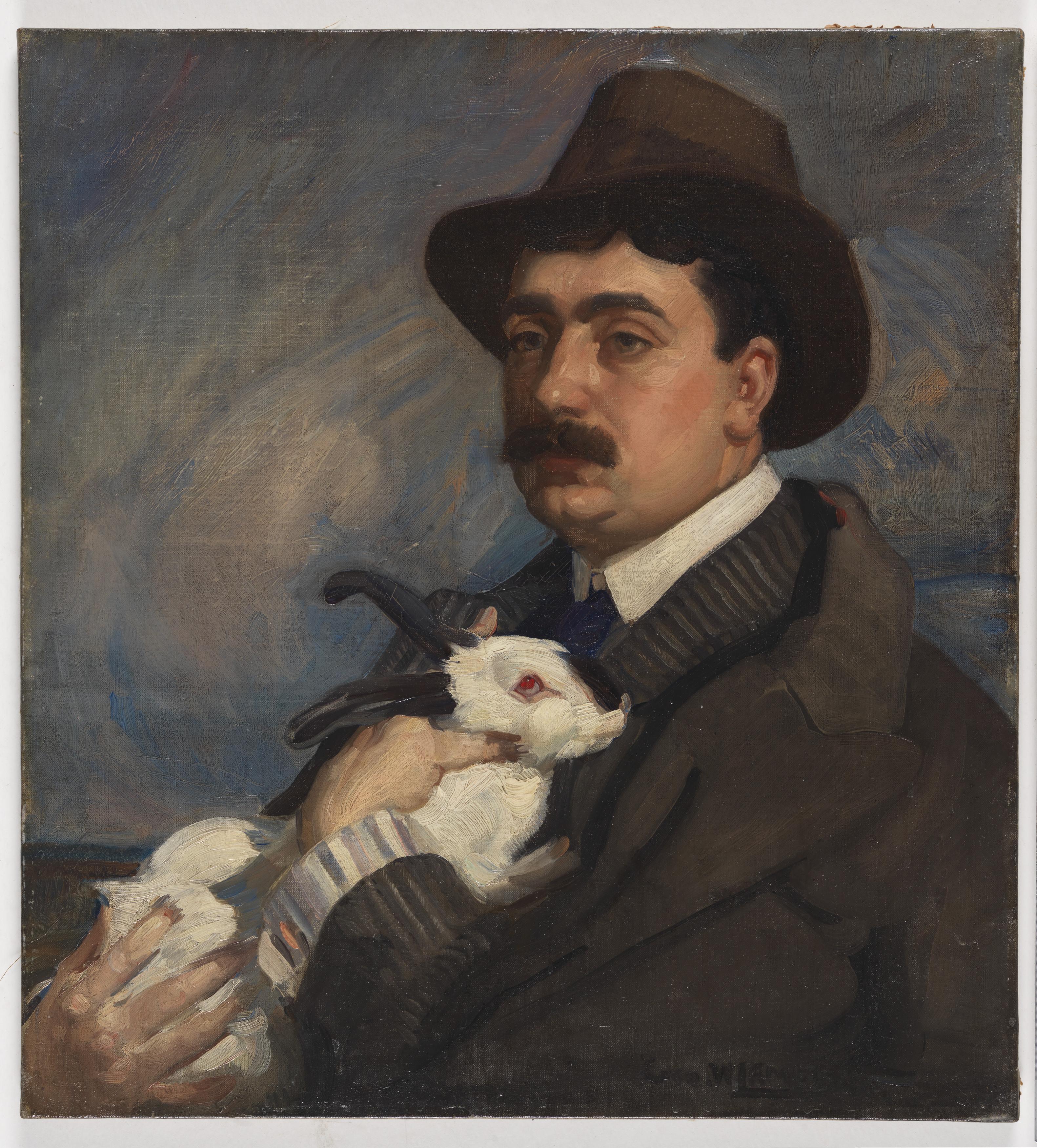 Man with rabbit, ca. 1910 / by George Washington Lambert