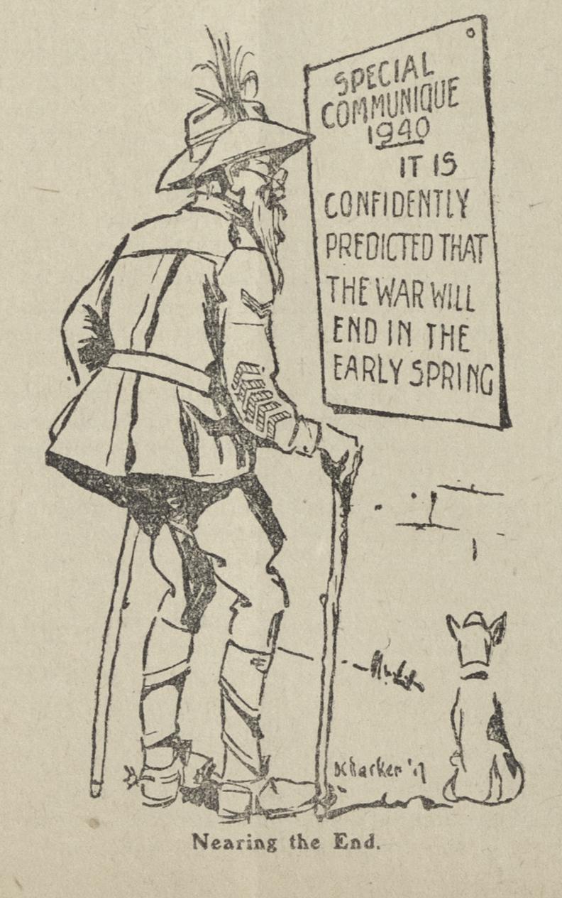 Cartoon from Kia-ora Coo-ee, 'Nearing the End'