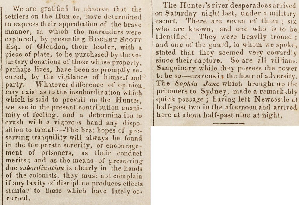 Sydney Gazette, Tuesday 26 November, 1833, p. 2.