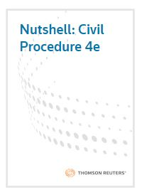 Book cover showing the words civil procedure