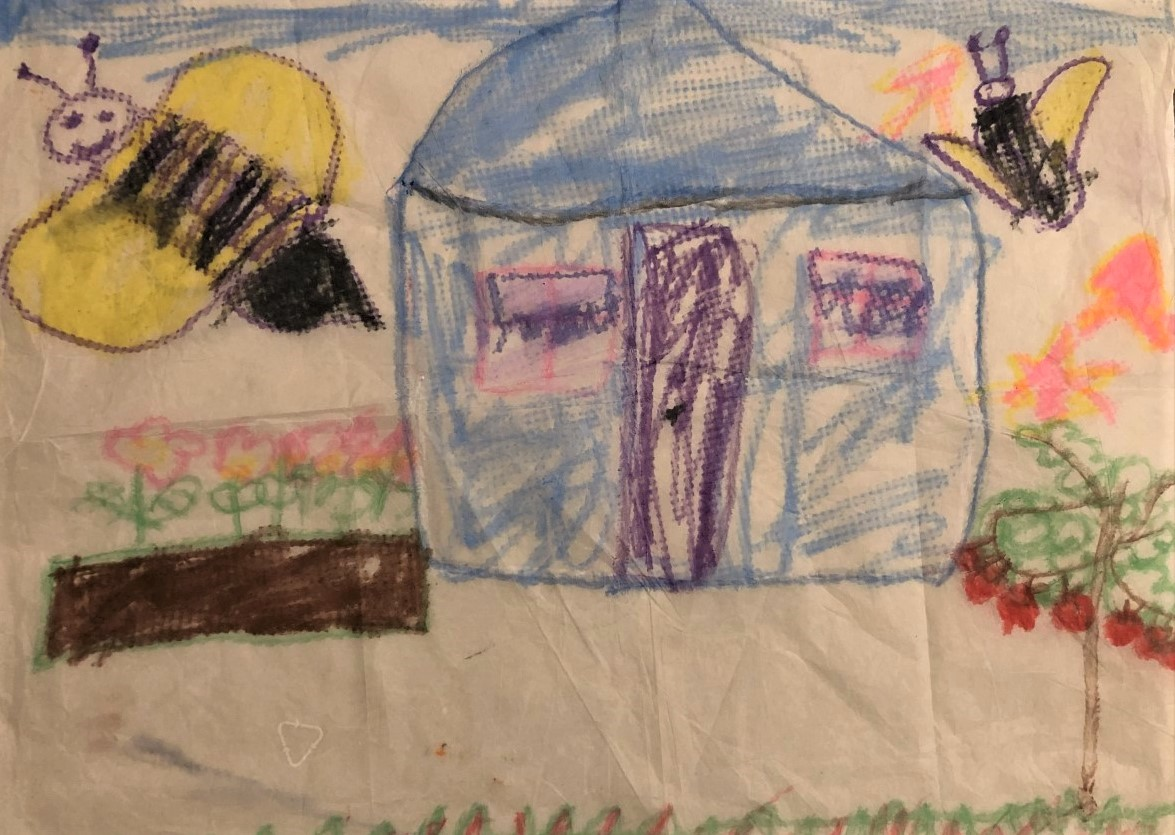 Claire - Little house with bumble bees