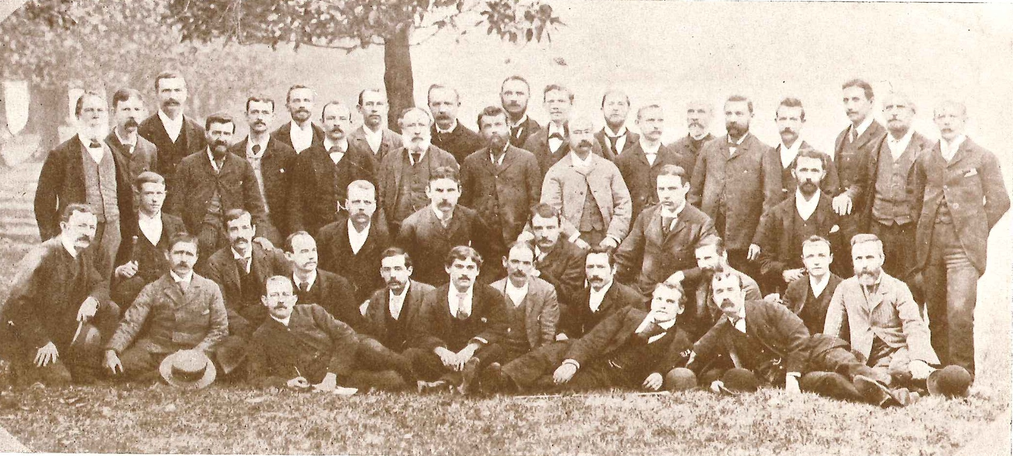 Staff of the Echo Companionship circa. 1890