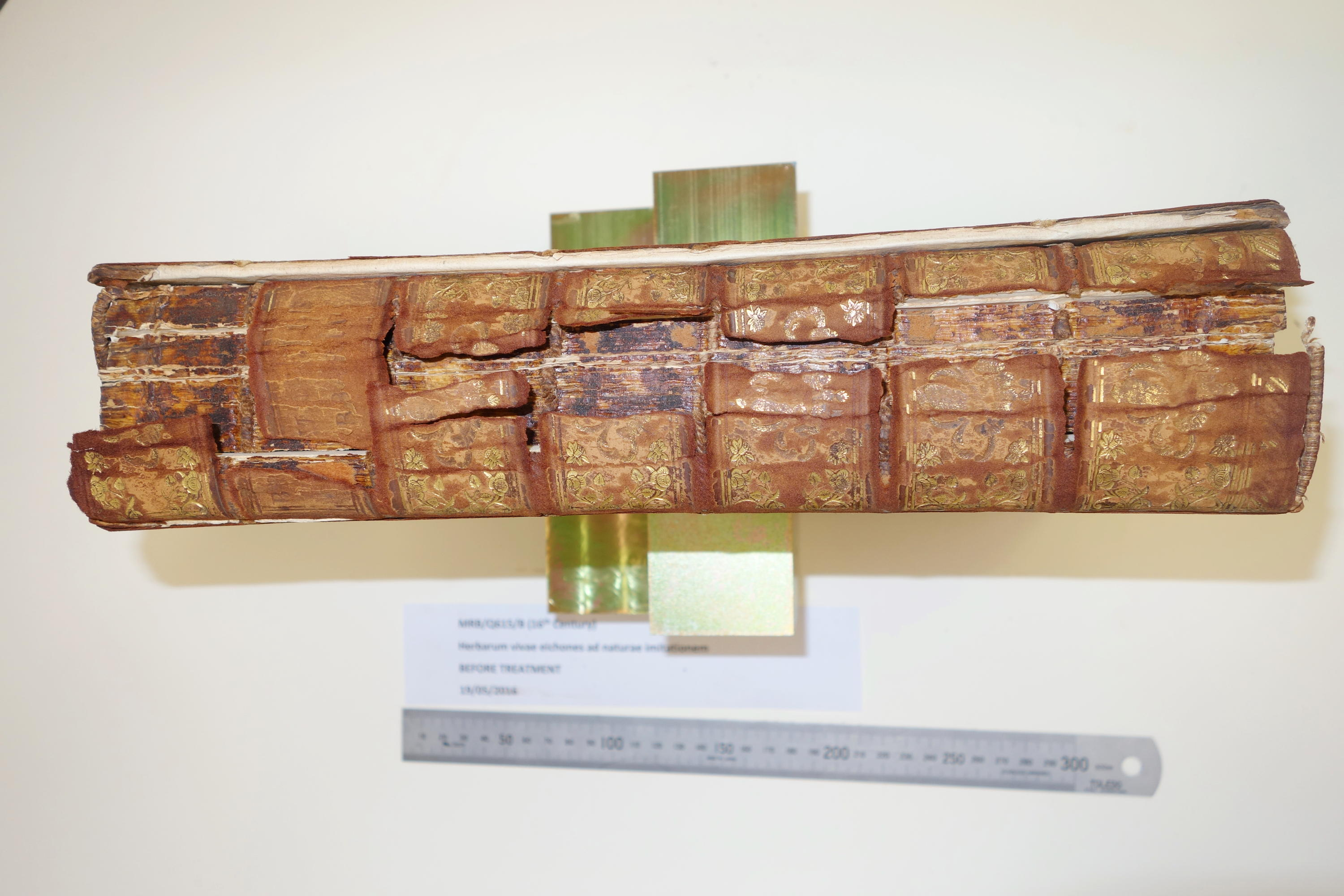 Rare book spine in damaged condition