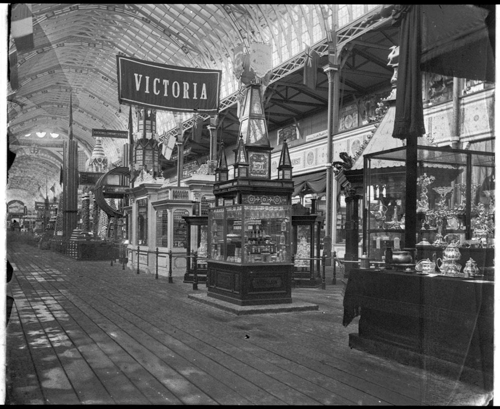Hall of exhibits, International Exhibition, 1879-80