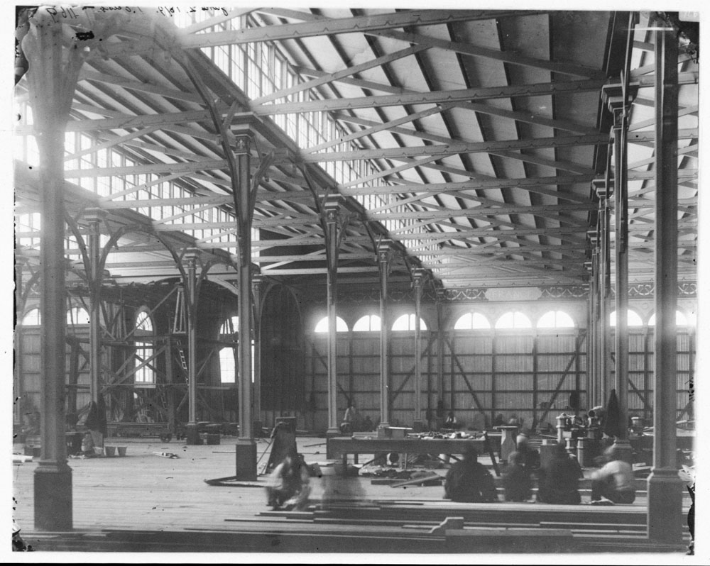 Garden Palace, Sydney, interior during erection