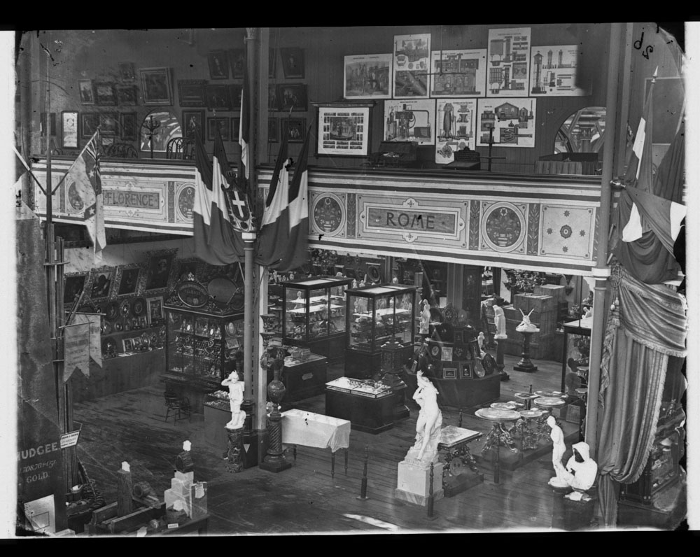 Italian exhibit, International Exhibition, Sydney, 1879-80