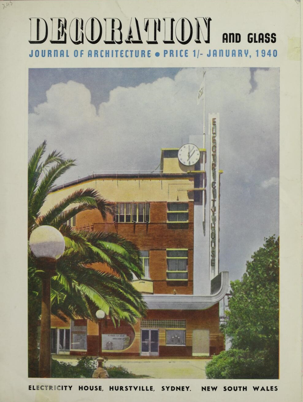 Decoration and Glass January 1940