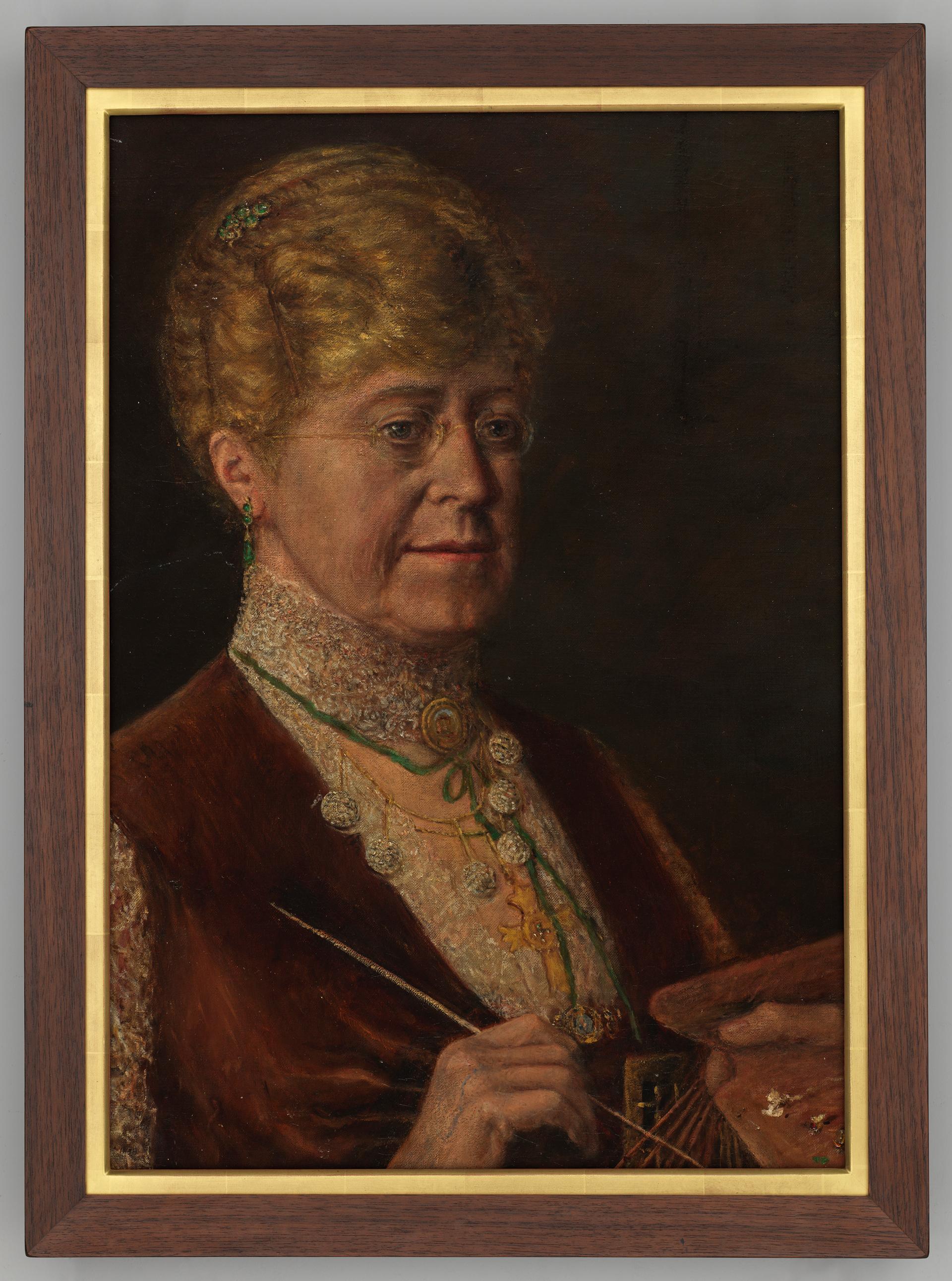 Self portrait, ca. 1890-1900 / Catherine Elizabeth Streeter