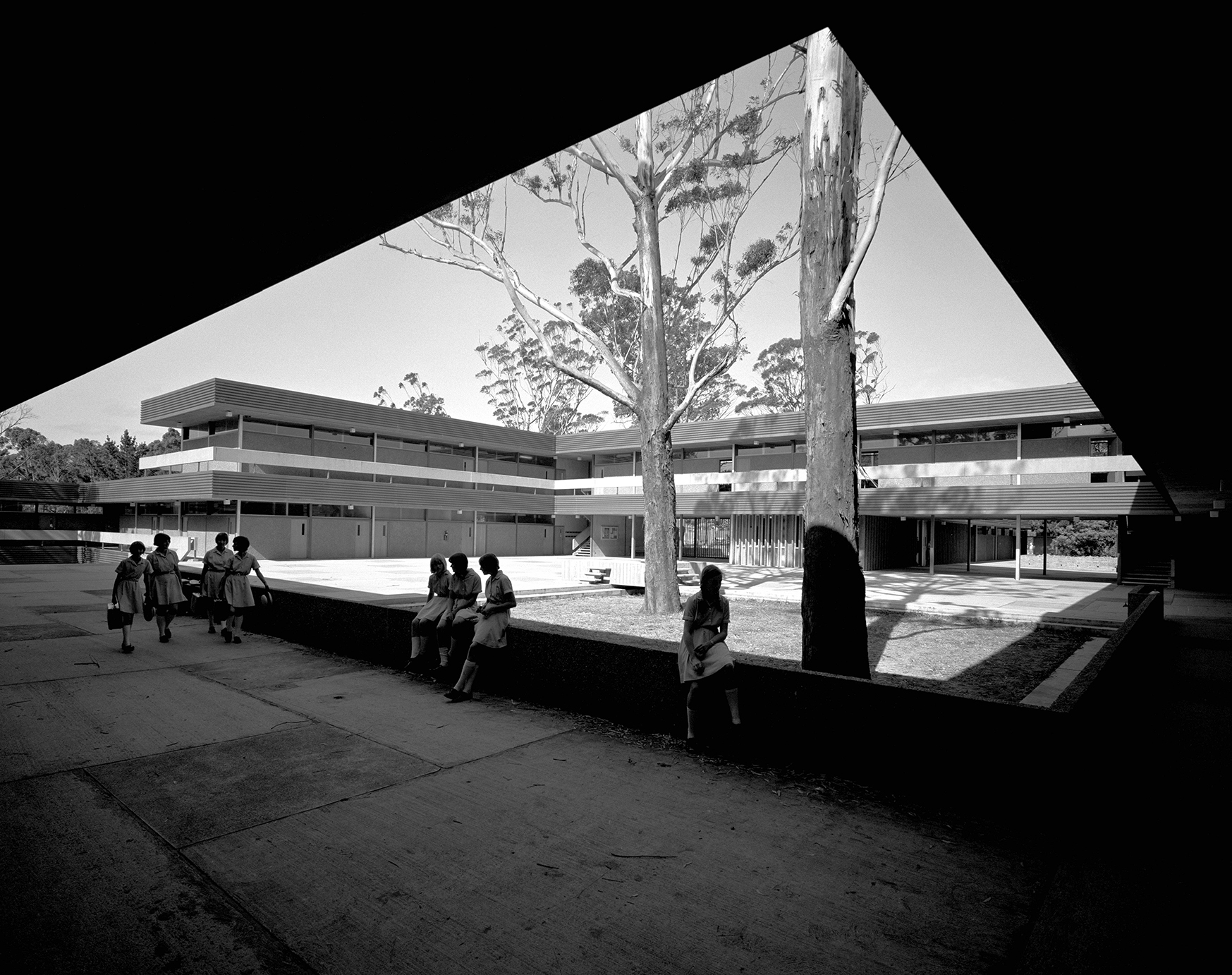 Pennant Hills High School, 1967, photo by Max Dupain & Associates