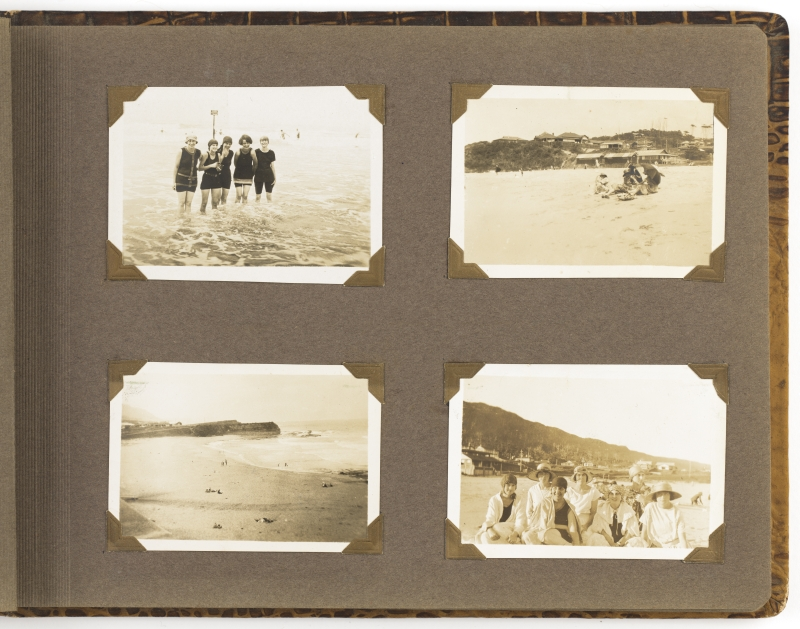 Album of photographs of women vacationing at Austinmer and Terrigal, New South Wales, ca. 1920-1930 - Page 9