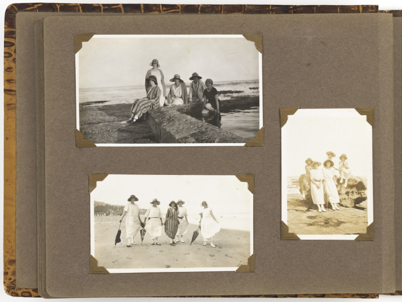 Album of photographs of women vacationing at Austinmer and Terrigal, New South Wales, ca. 1920-1930 - Page 12