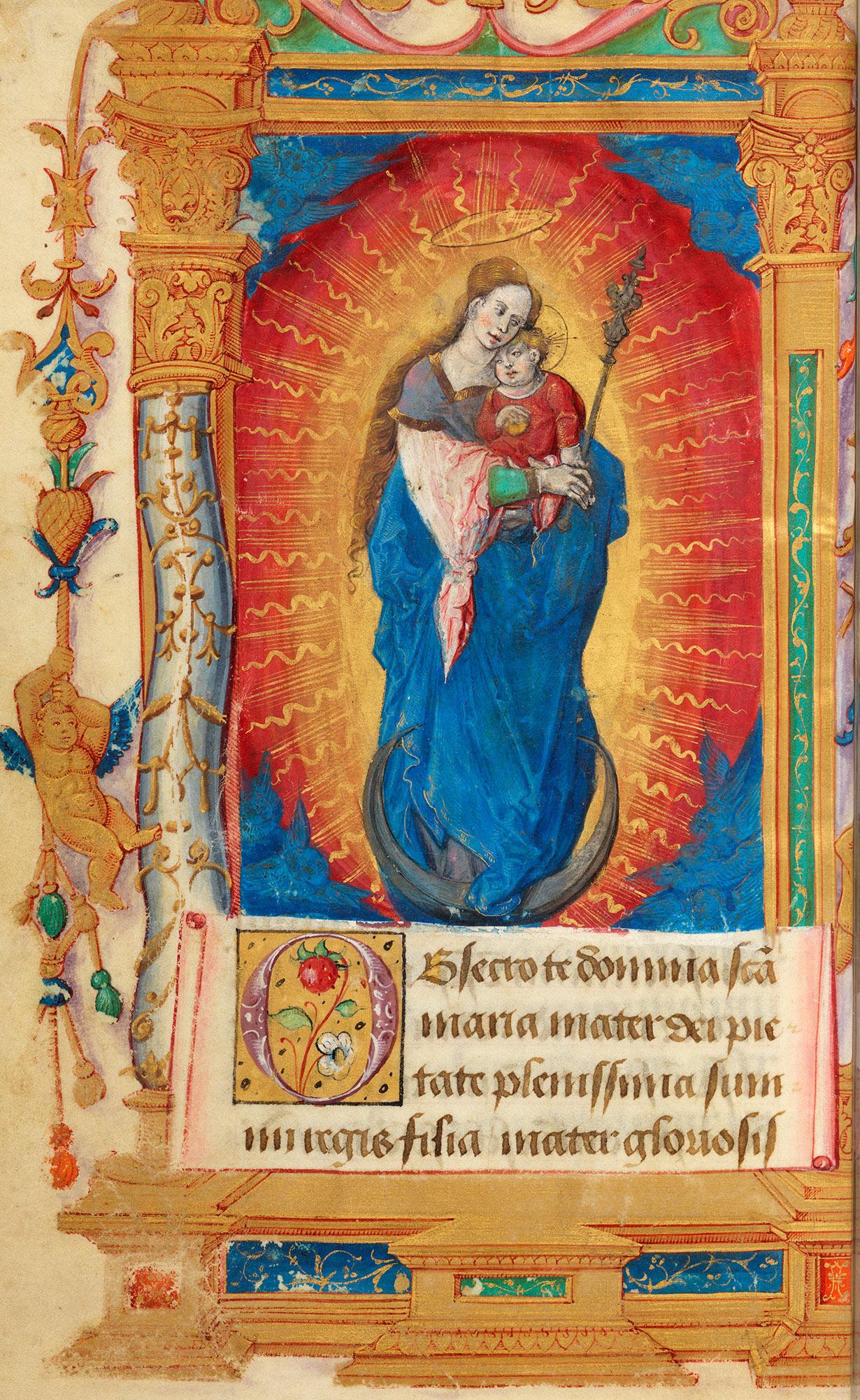 An illuminated manuscript.