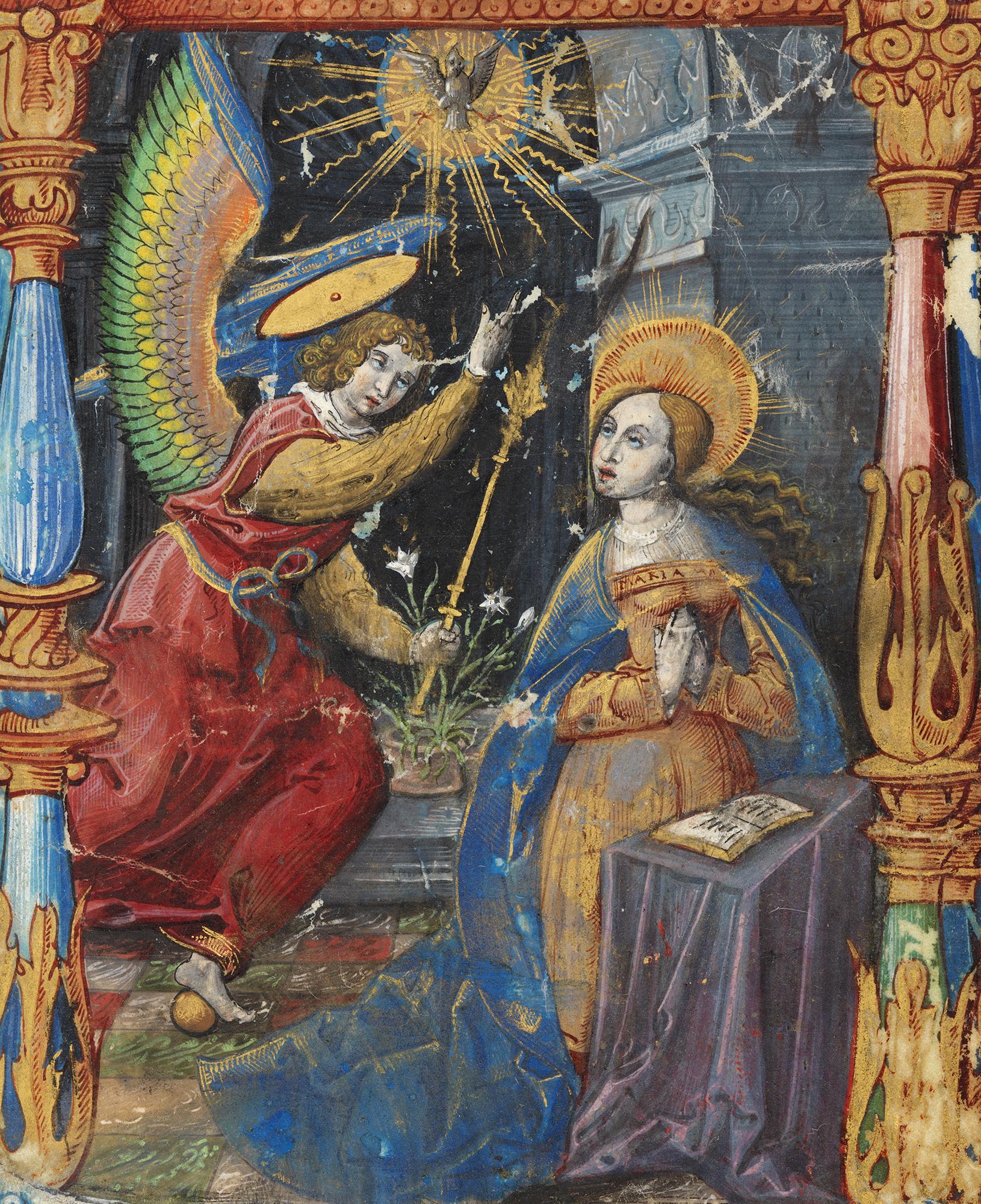 An illumination depicting a religious, Christian scene.