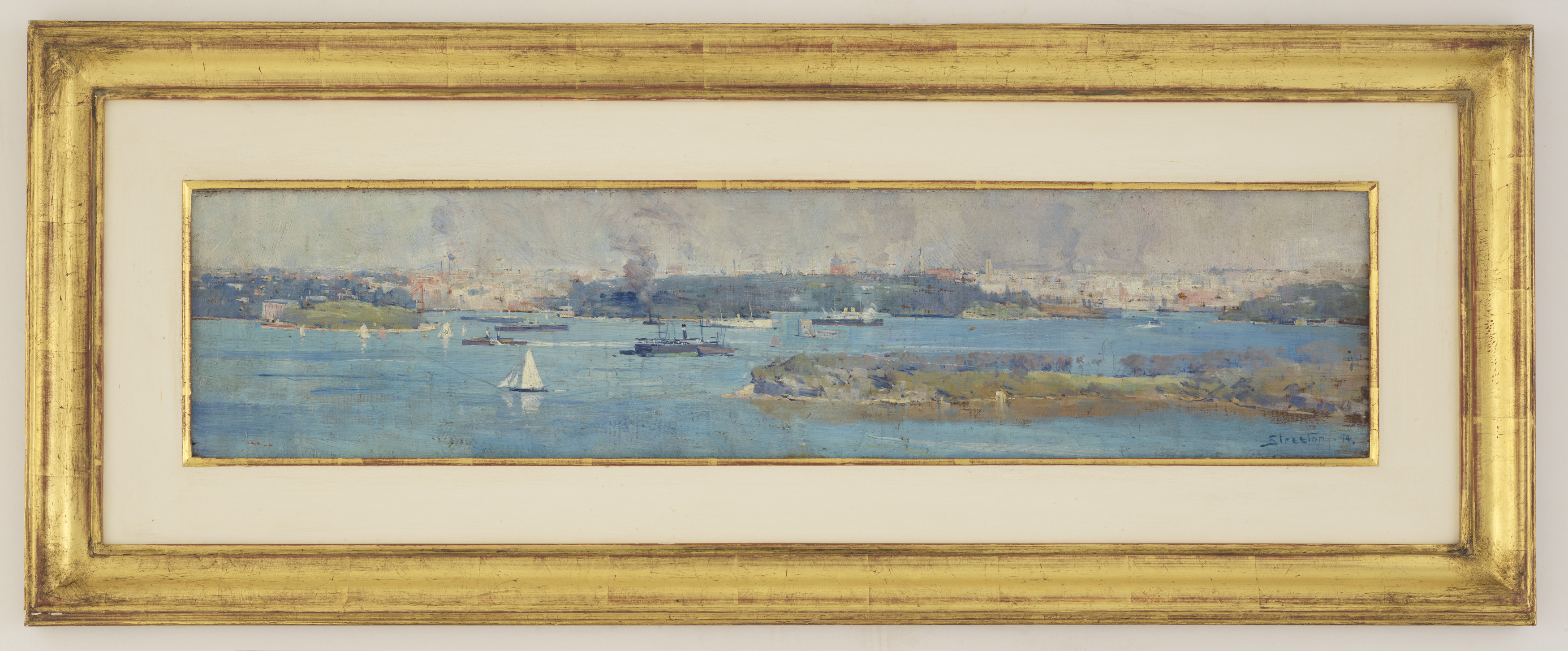 Panoramic view of Sydney Harbour and the city skyline, 1894
