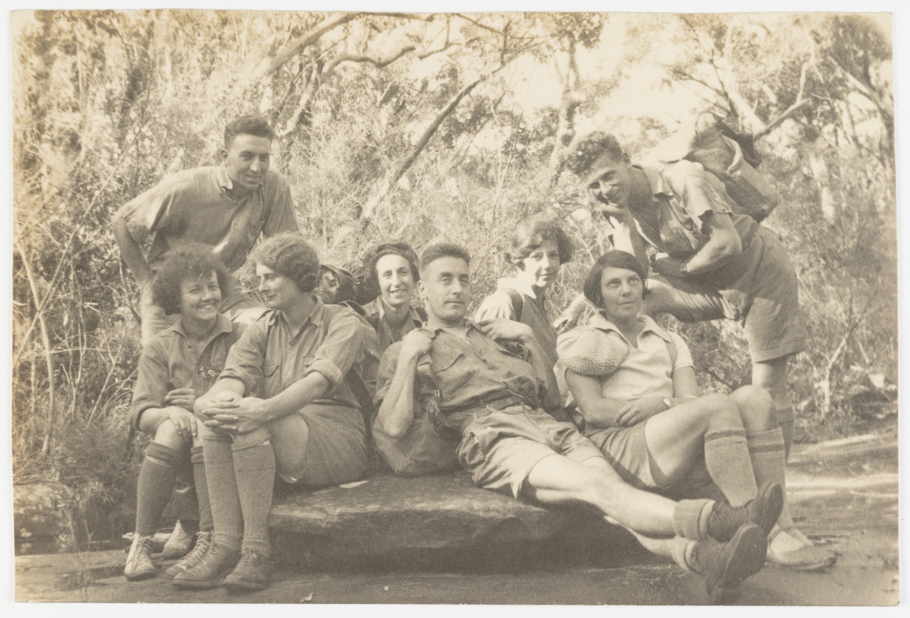 Sydney Bush Walkers Club in Blue Mountains and Camping at North Era Beach, c 1925-1935