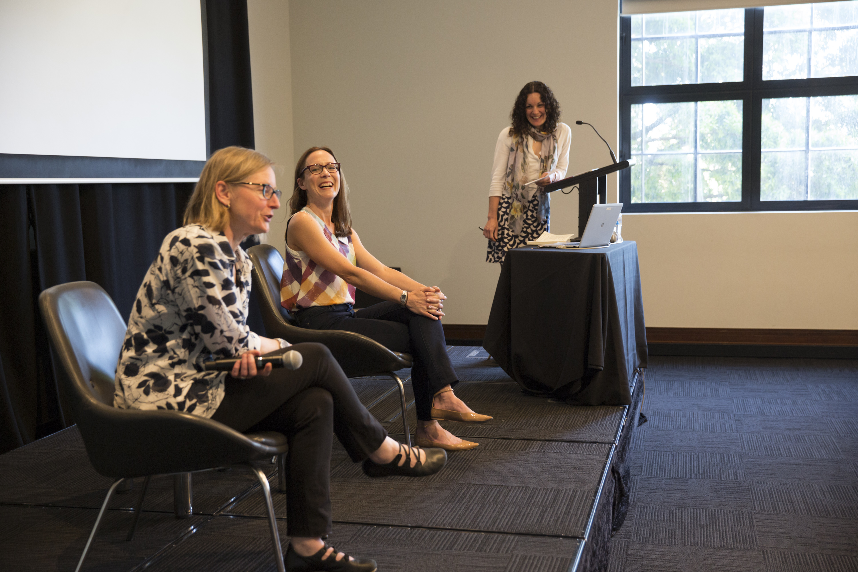 Professor Susan K. Martin (La Trobe University), Assoc. Professor Tanya Dalziell (University of Western Australia) and Dr. Anne Jamison (Western Sydney University)