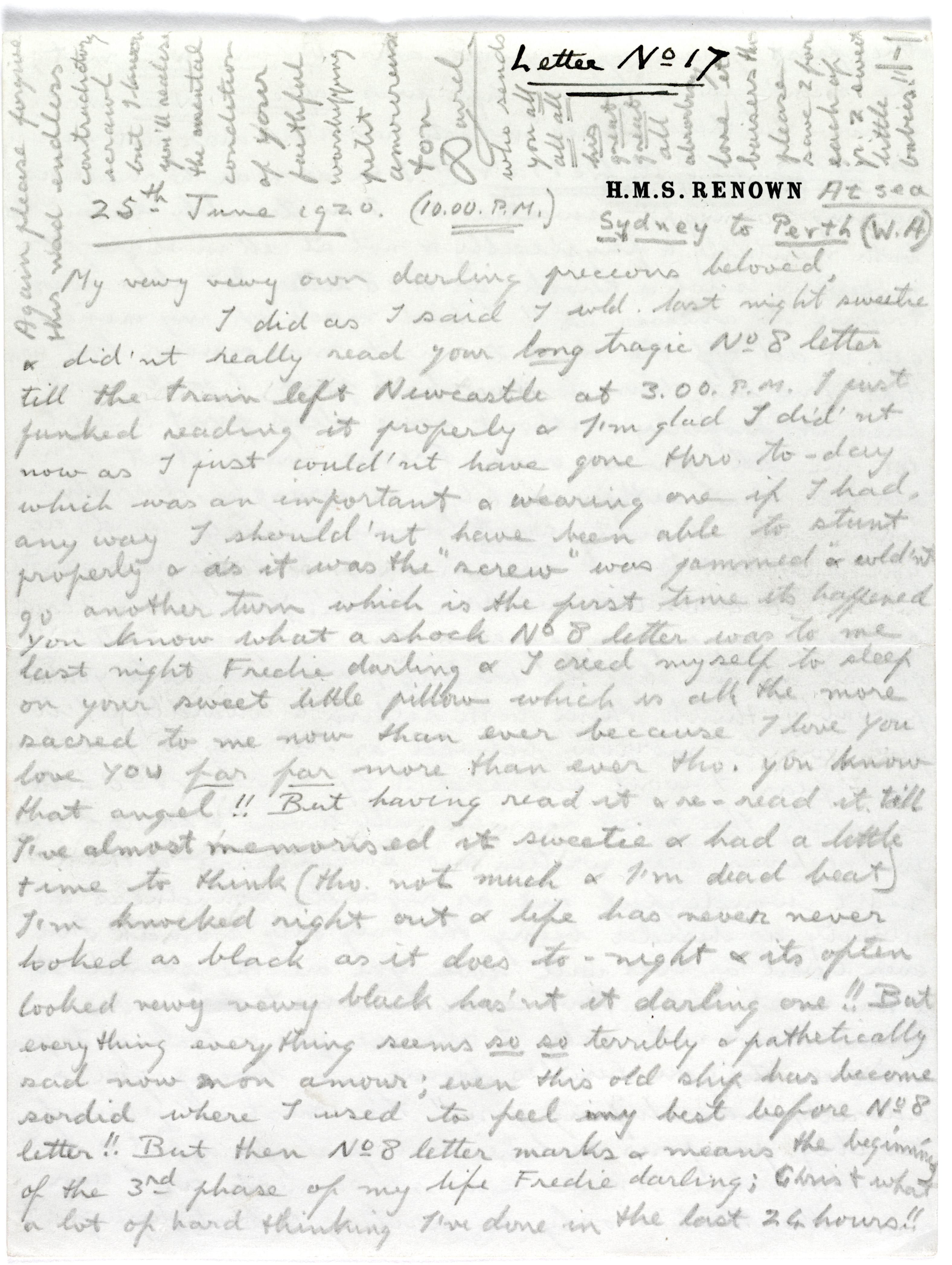 Image of a letter from Prince Edward to Freda