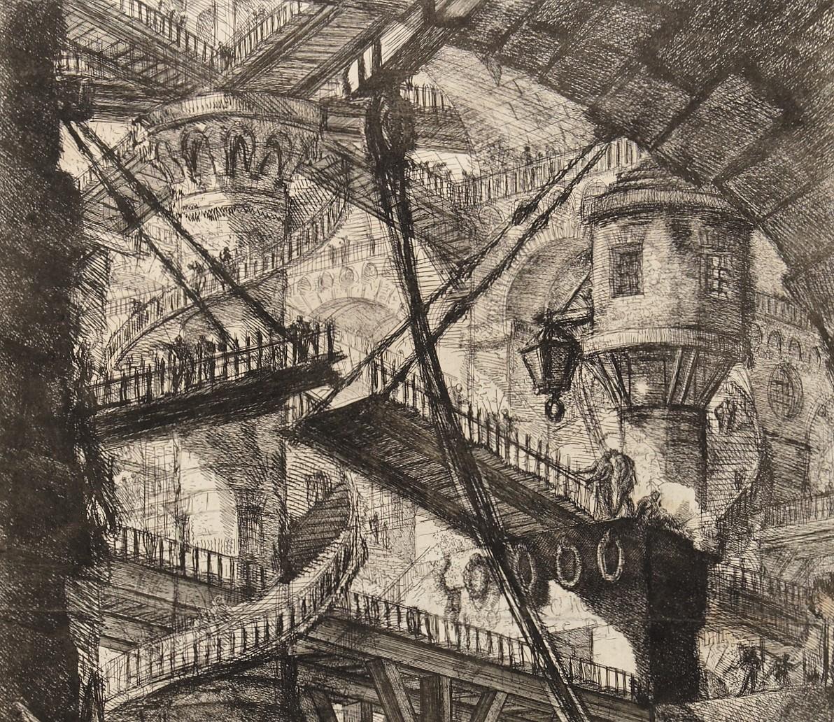 Detail from 'The Drawbridge', etching by Giovanni Battista Piranesi c1761