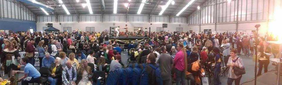 The huge crowd at Goulburn Comic Con, held at Veolia Arena on 18 March 2017