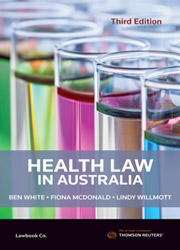 Book cover showing different coloured liquids in test tubes