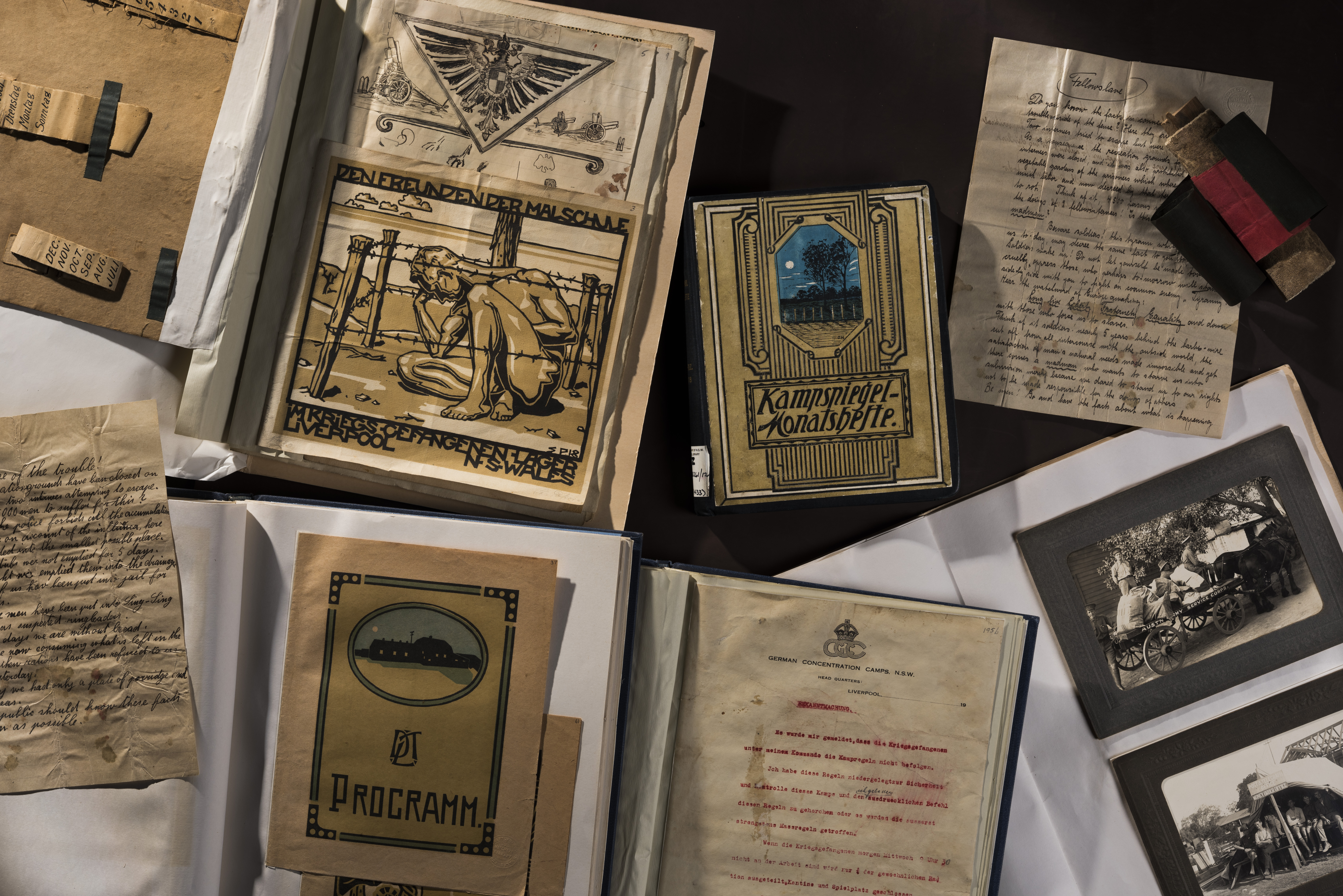 A collection of material created by internees held at the Holsworthy internment camp during the First World War