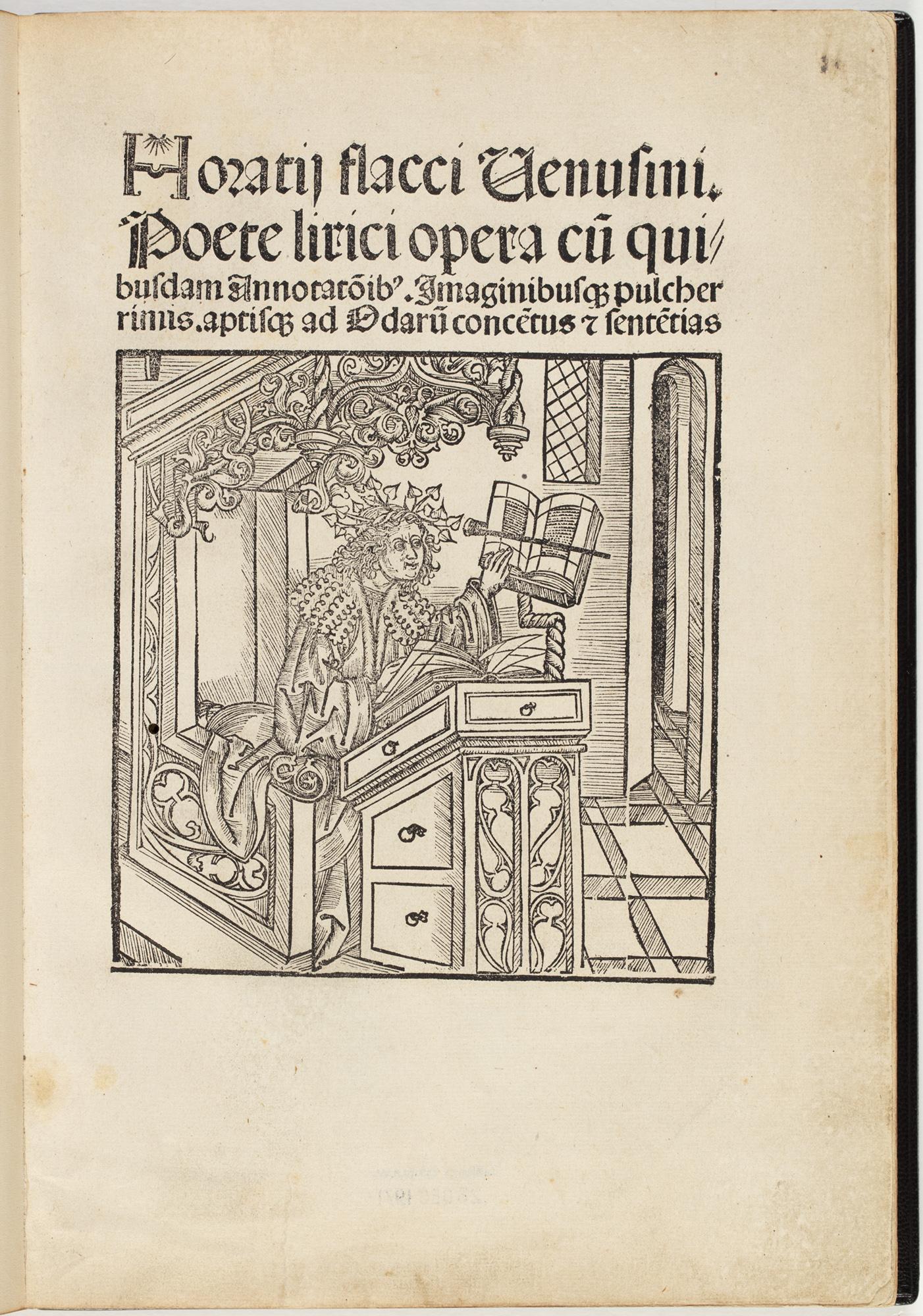 Horatij flacci Venusini Poete lirici opera, 1498, by Horace