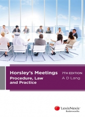 Cover for Horsley's meetings procedure, law and practice. 7th ed