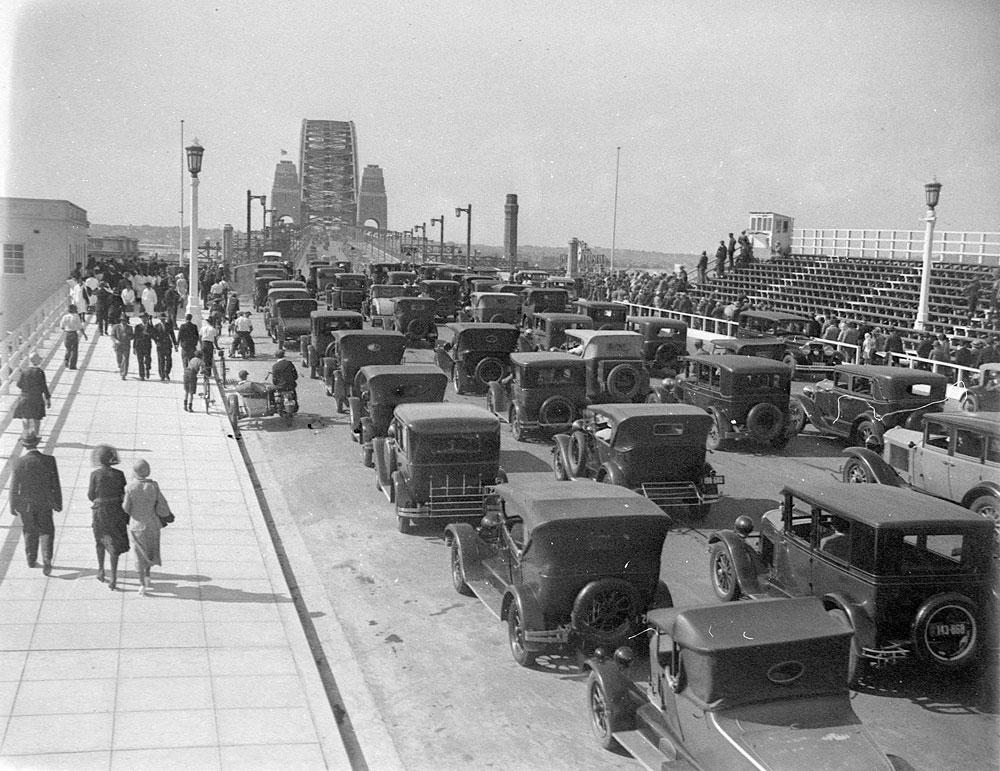 Opening of the Sydney Harbour Bridge, 1932, by Sam Hood., Glass negative, DG ON4/5244
