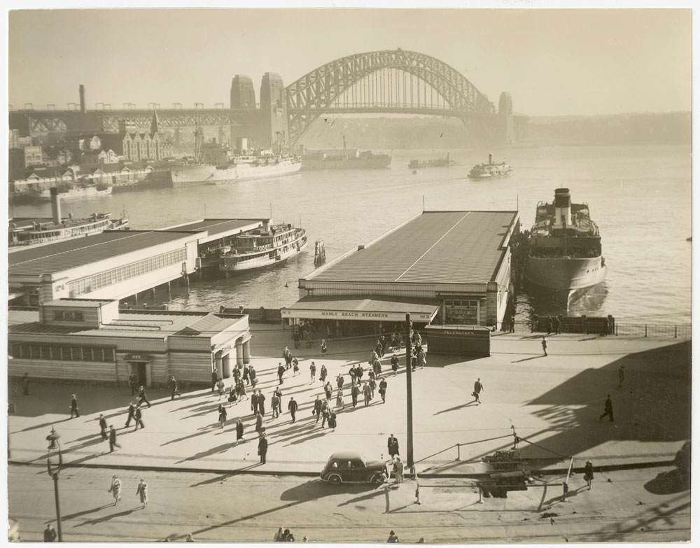 Circular Quay, c.1947, by unknown photographer, Silver gelatin photoprint, PXA 907/22/16