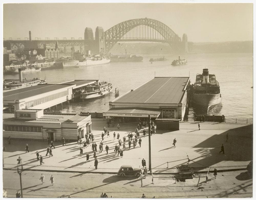 Circular Quay, c.1947, by unknown photographer, Silver gelatin photoprint, PXA 907/22/16