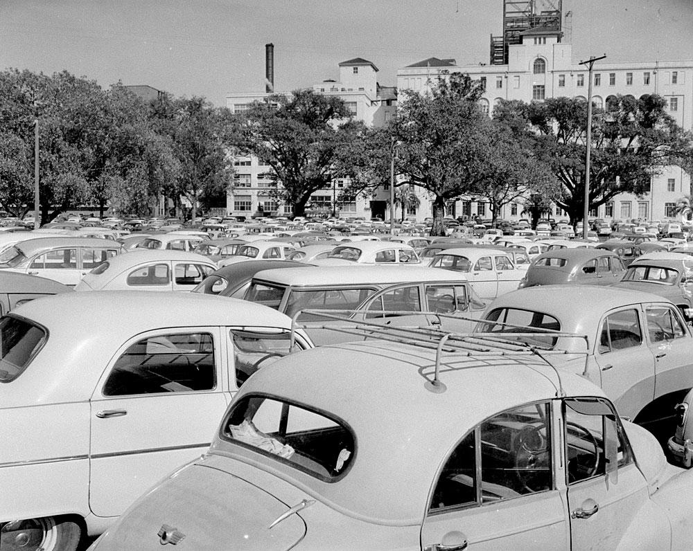Rail Strike in Sydney, 1962, by David J. Hickson, Photonegative, APA 13378