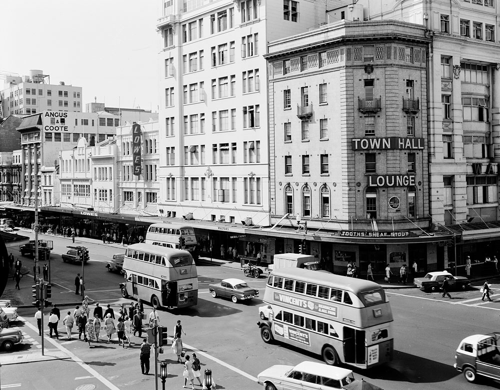 Double-decker buses, c. 1963, Government Printing Office, Photonegative, GPO 2/25983