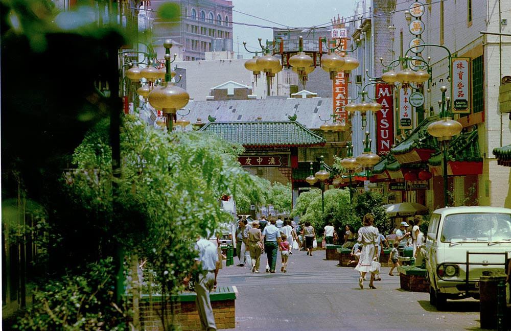 Dixon Street, Chinatown, c. 1985, NSW Government Printer, Colour negative, GPO 4 - 39059