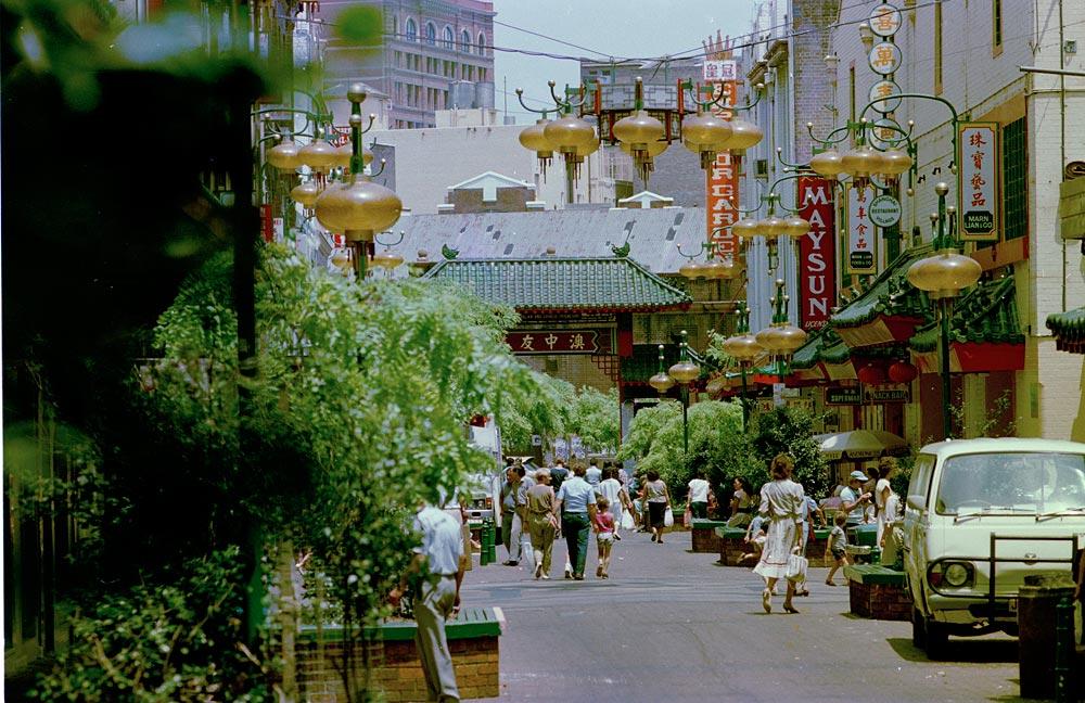 Dixon Street, Chinatown, c. 1985, NSW Government Printer, Colour negative, GPO 4 - 39059