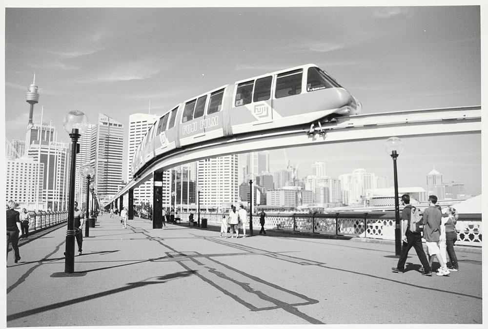 Monorail, Darling Harbour, 2001, by David Hodgson, Silver gelatin photoprint, PXA 1062/88
