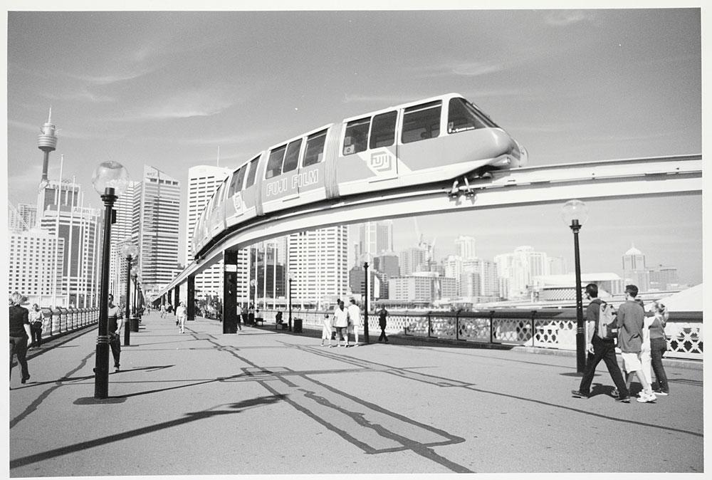 Monorail, Darling Harbour, 2001, by David Hodgson, Silver gelatin photoprint, PXA 1062/88