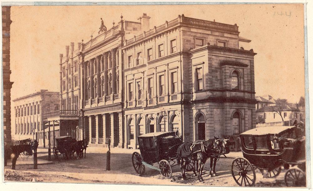 Pitt Street, Sydney, c. 1865, by unknown photographer, Albumen print, SPF/340