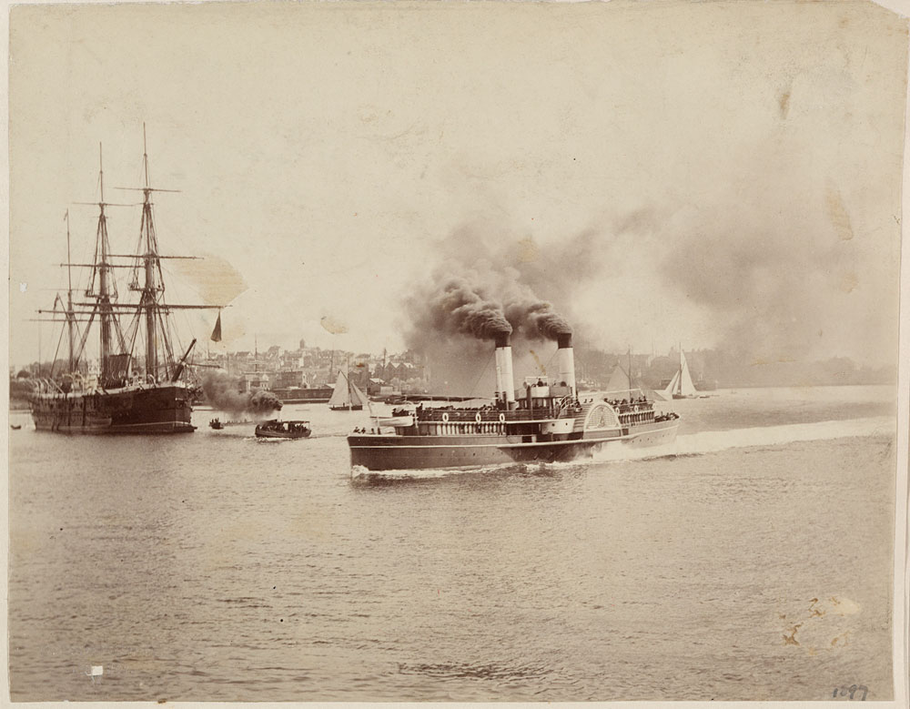 HMS Nelson and Brighton, c. 1885, by Charles Bayliss, Albumen print, PXA 422/29